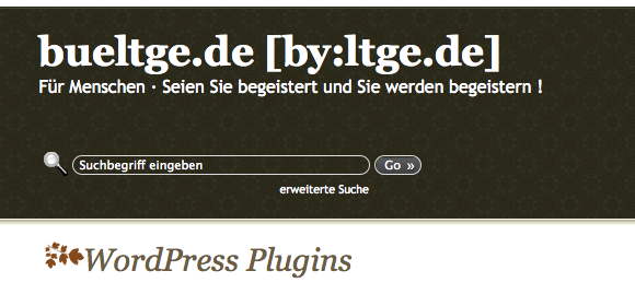 bueltge WordPress Plugins