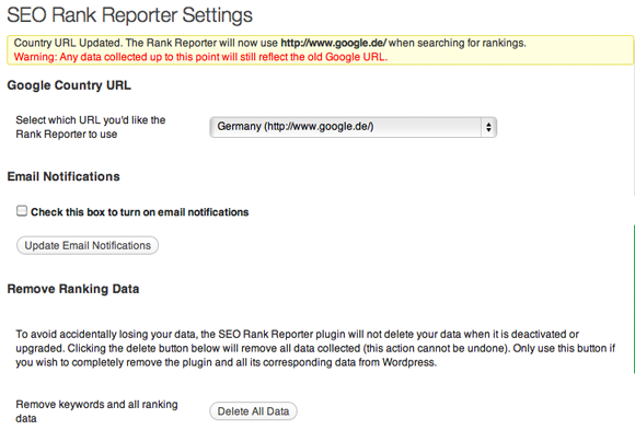 SEO-Rank-Reporter-Settings