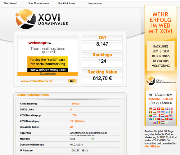 Xovi Domainvalue