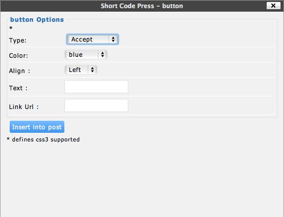 Shortcode-Settings